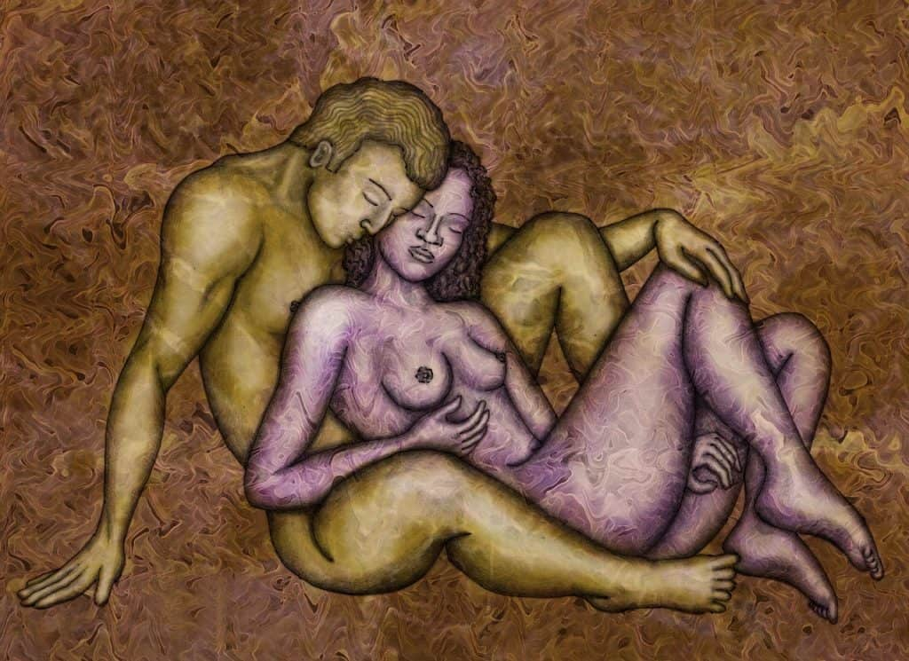 ציור של גבר ואישה